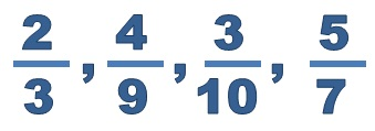 Examples Of Proper Fractions