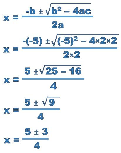 Solving Quadratic Equations Using The Quadratic Formula Free