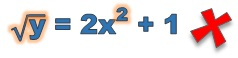 What does not make a linear equation