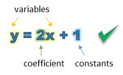 What makes a linear equations