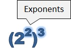 exponents are 2 and 3