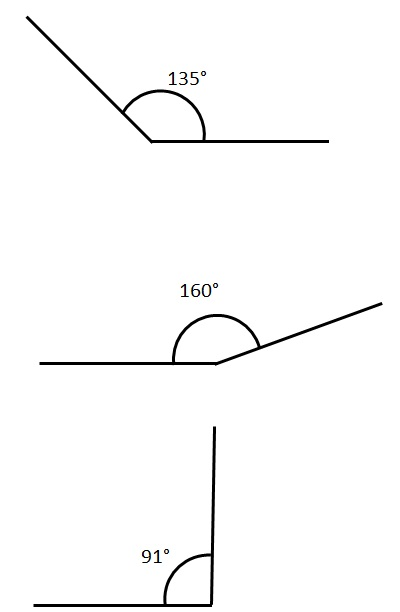 Obtuse Angles - free Mathematics lessons and tests