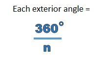 Finding The Exterior Angle Of A Regular Polygon Free Mathematics Lessons And Tests