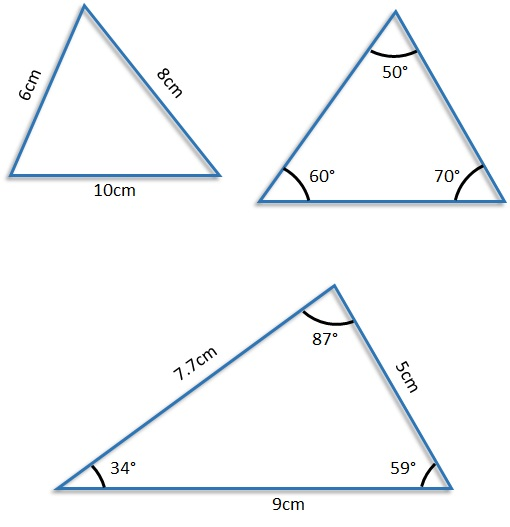 Scalene Triangles - free Mathematics lessons and tests