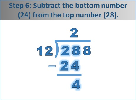 Bottom number in division